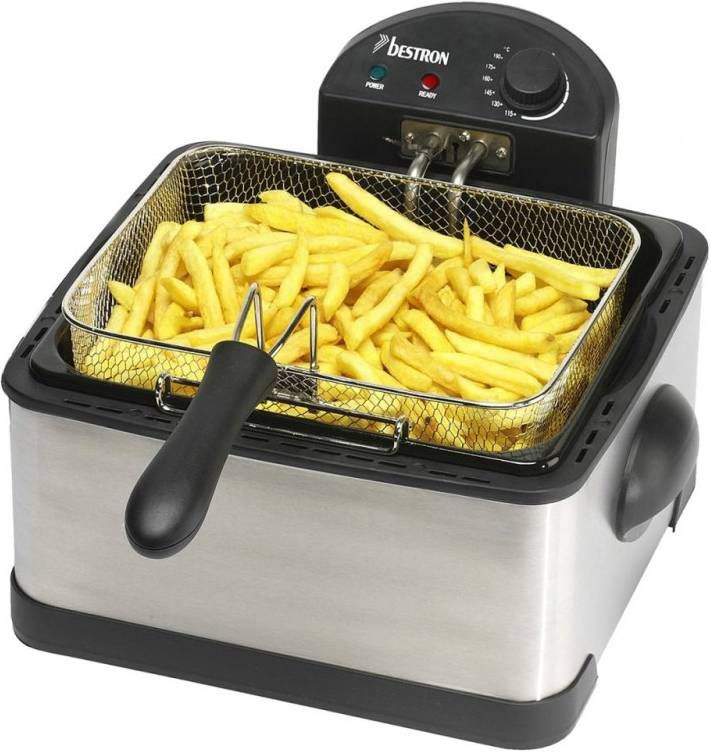 Bestron DF402B Family Friteuse DUO RVS - Friteuse.shop
